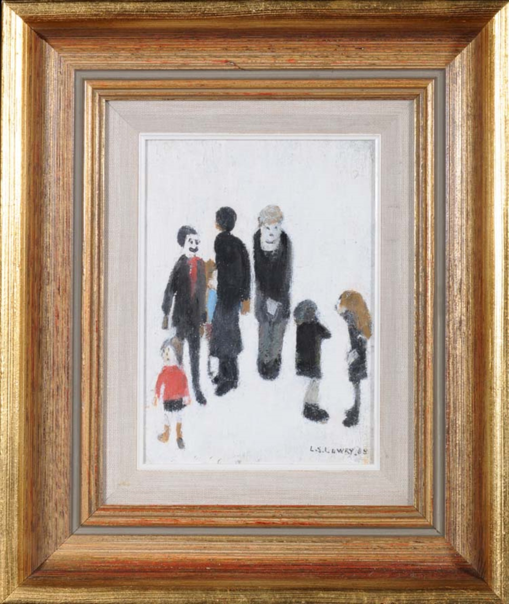 L S Lowry oil painting