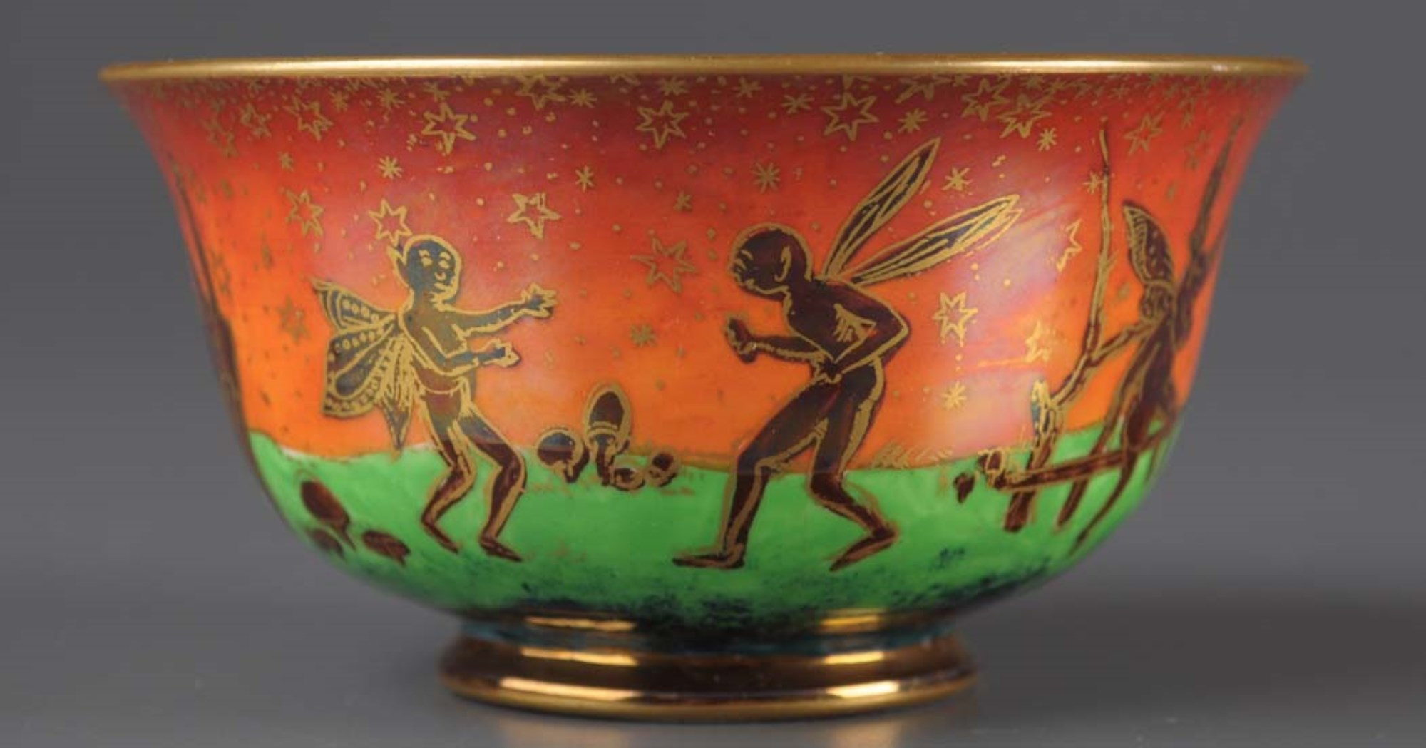 Daisy Makeig-Jones for Wedgwood: a flame Fairyland Lustre ''York Cup''