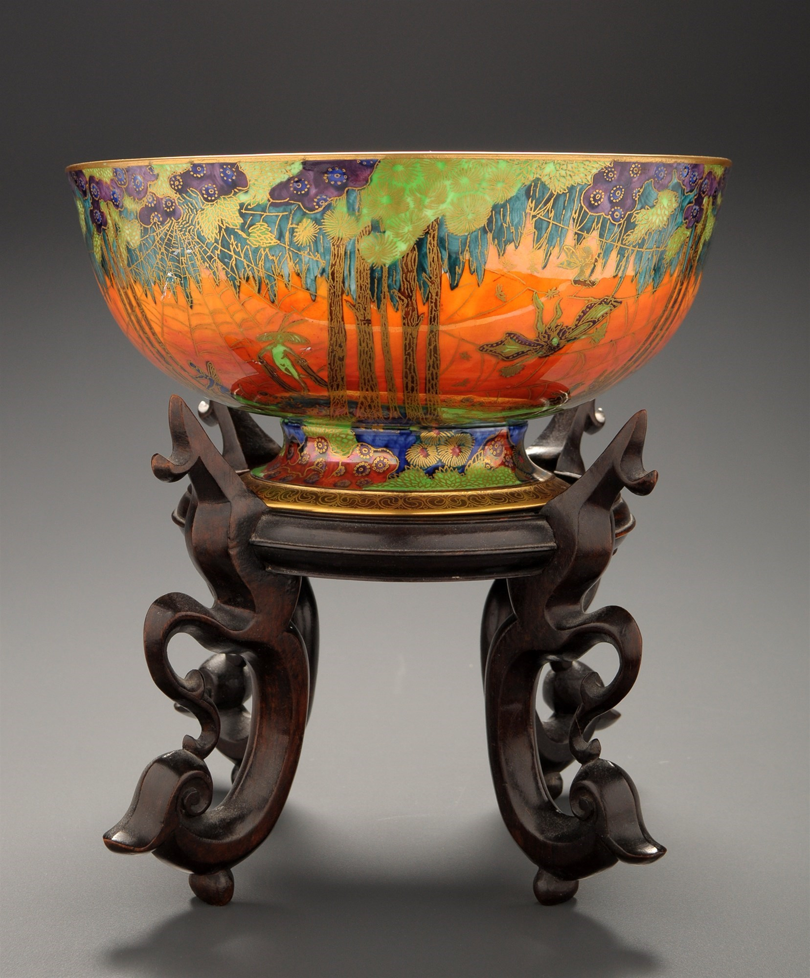Daisy Makeig-Jones for Wedgwood: a ''Sunset Fairyland Lustre'' punch bowl,