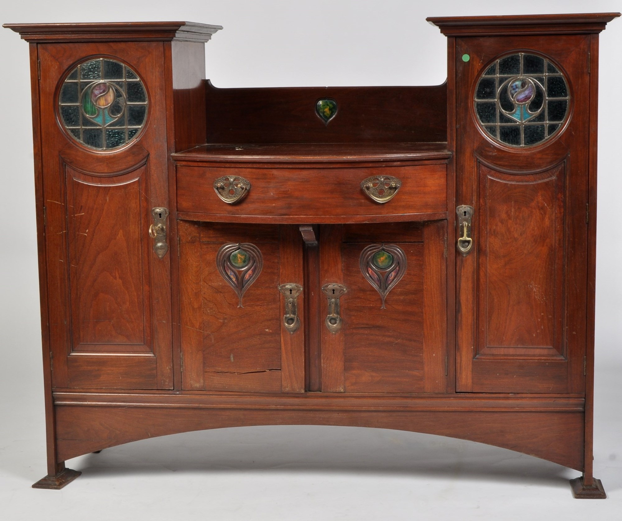 Shapland & Petter, Barnstaple: a late Victorian Arts & Crafts walnut sideboard,