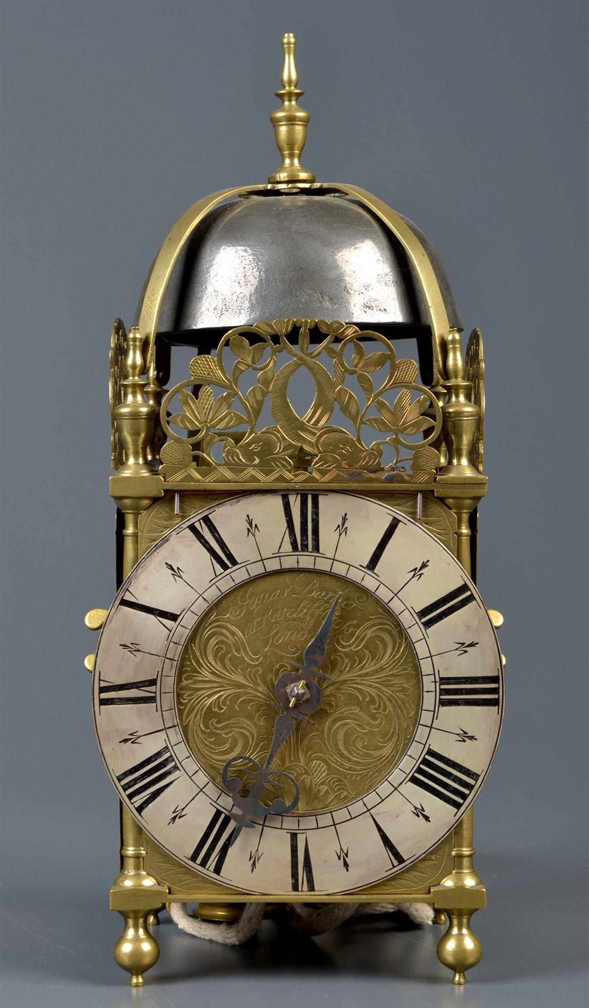 Jonas Barber, London: a brass lantern clock