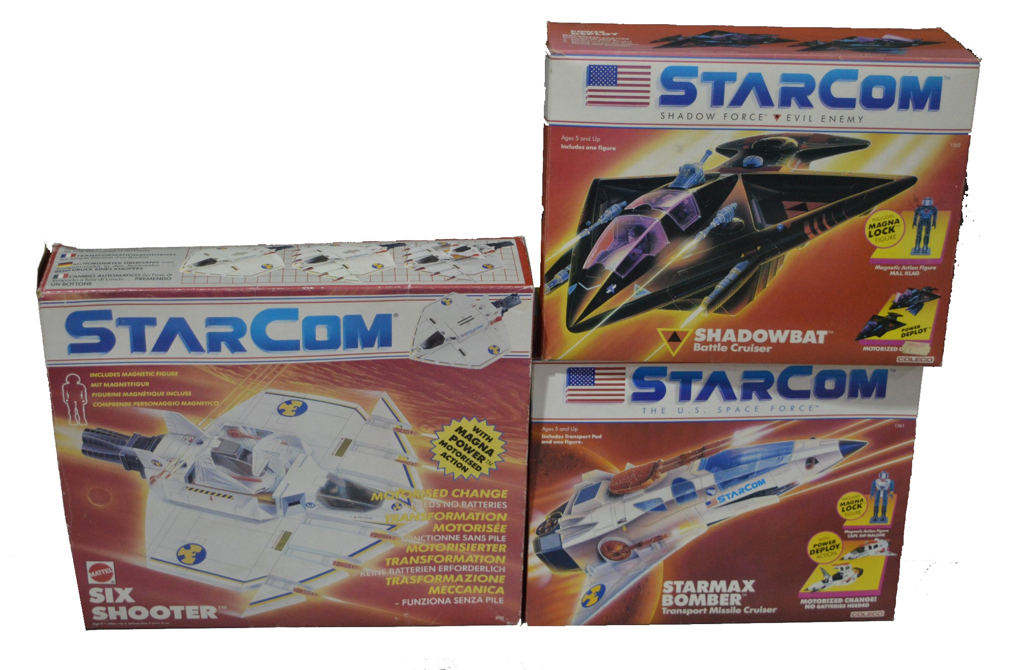 Starcom vehicles by Mattel and Coleco