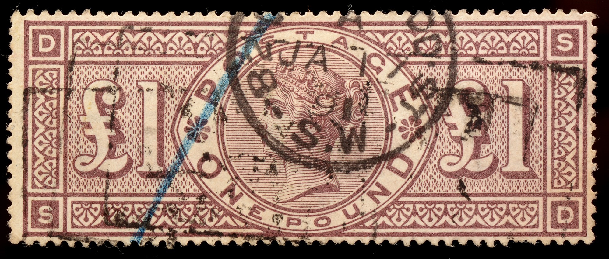 GB 1884 £1 brown lilac