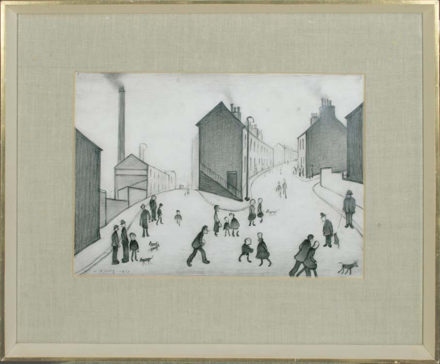 Lowry - Figures in the Street