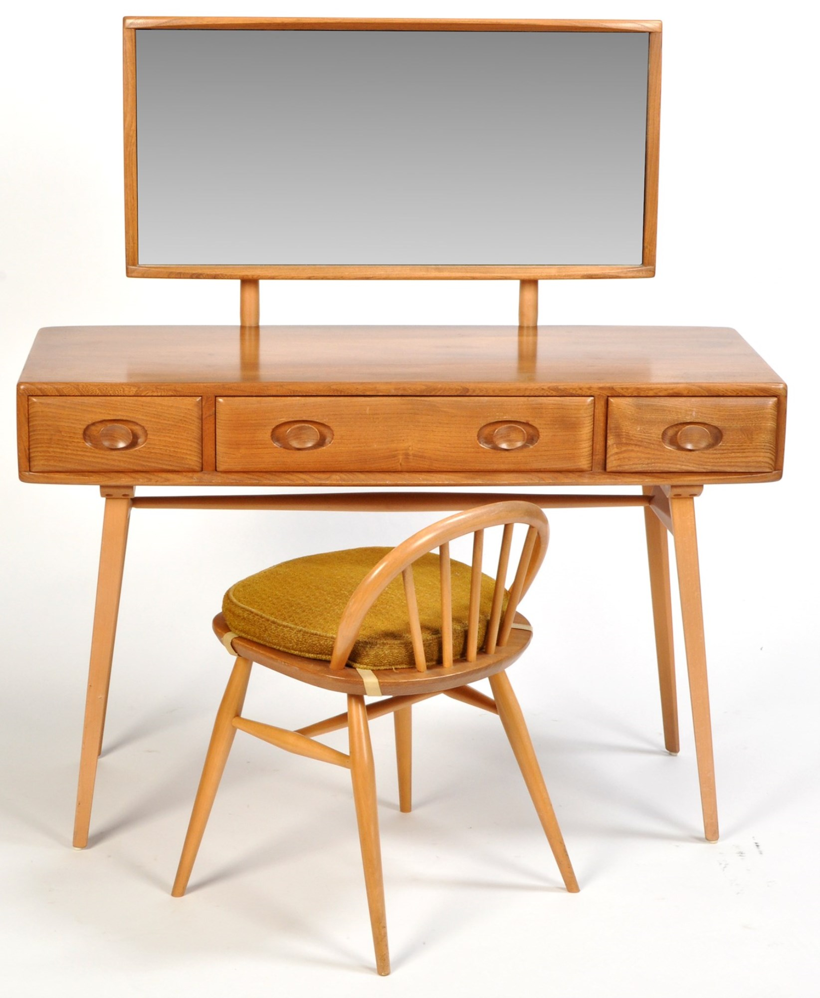 Ercol: a light stained elm dressing table,