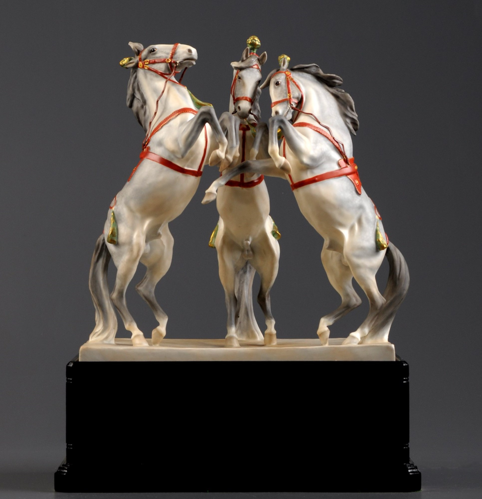 Royal Worcester: a group of Circus Horses, by Doris Lindner