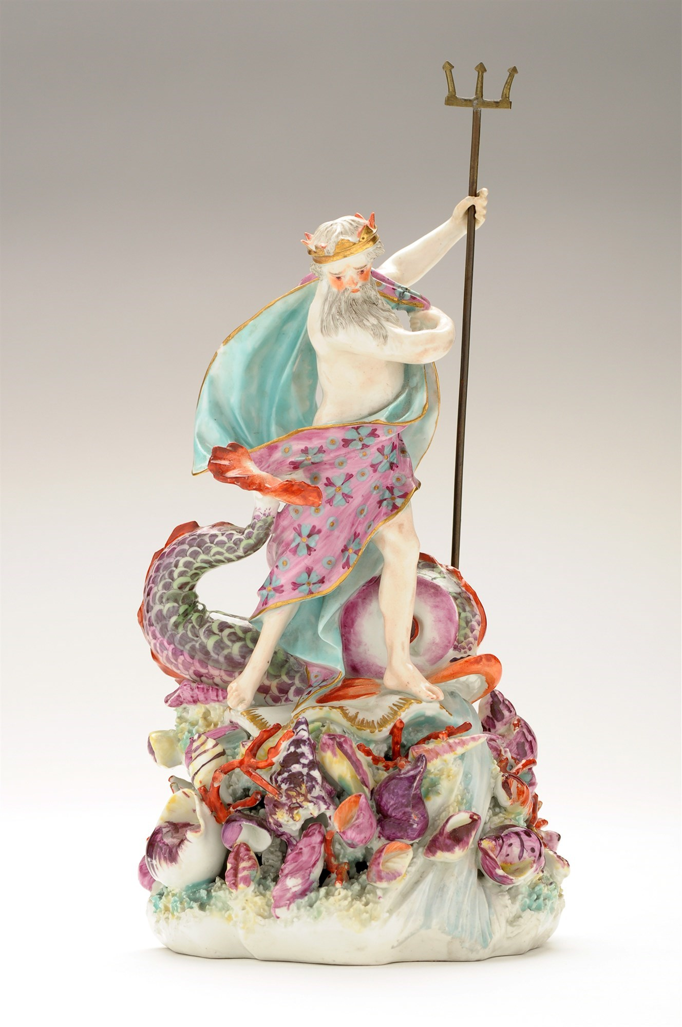 An 18th Century Derby figure of Neptune,
