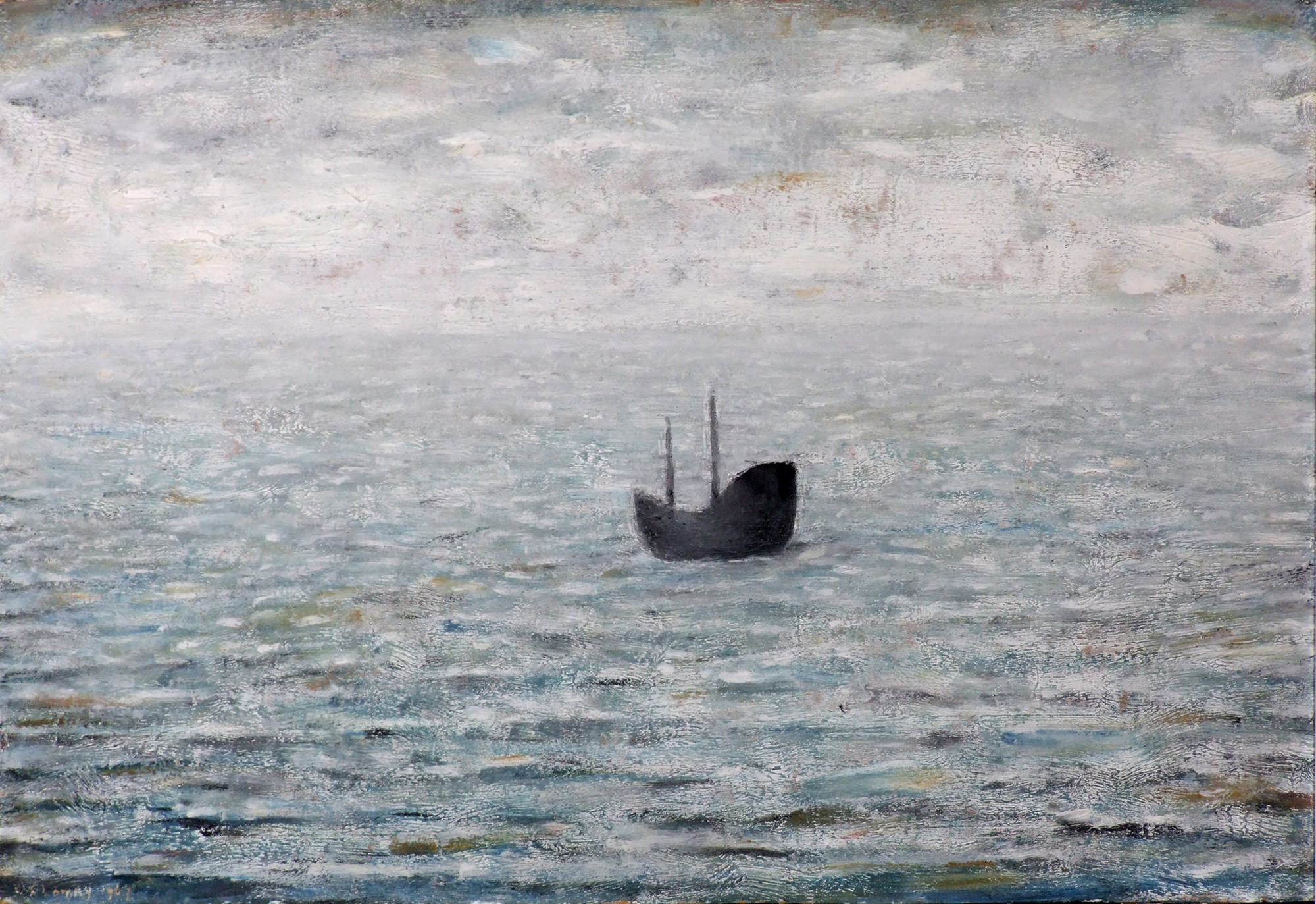 Lowry Boat at Sea