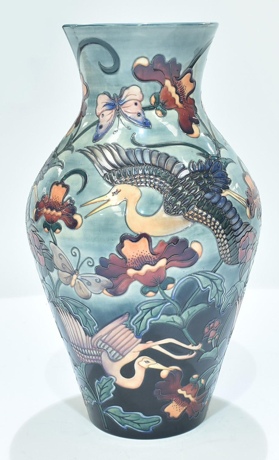 Large Prestige Moorcroft vase by Rachel Bishop, Kyoto,
