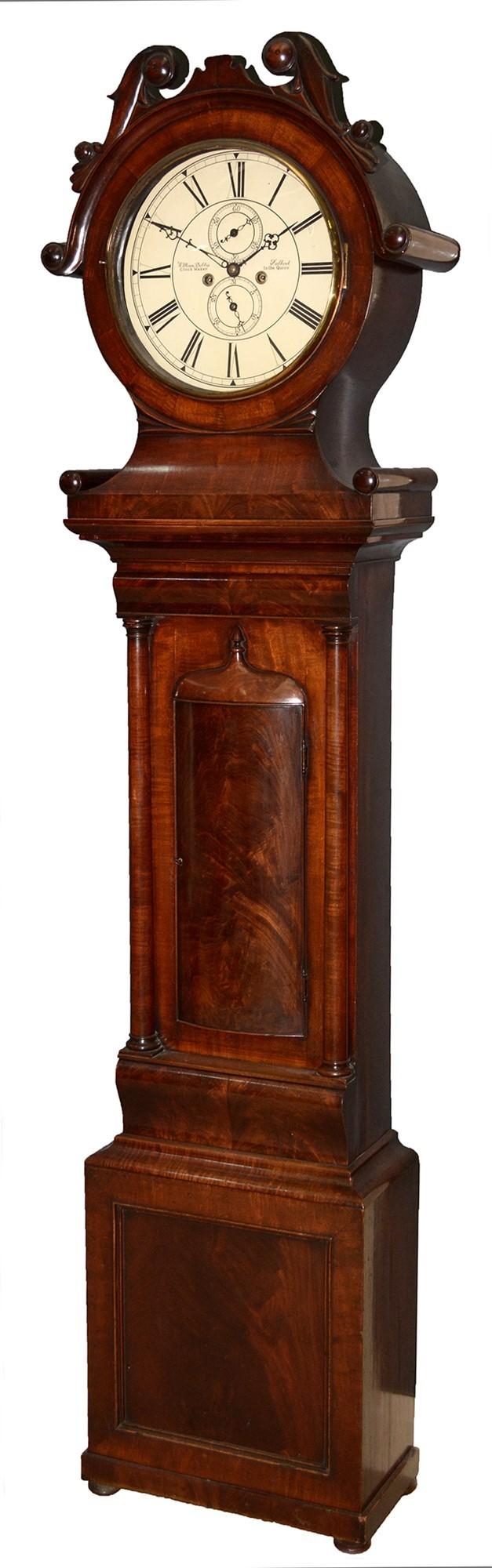 William Dobbie, Falkirk: a Scottish mahogany longcase clock,