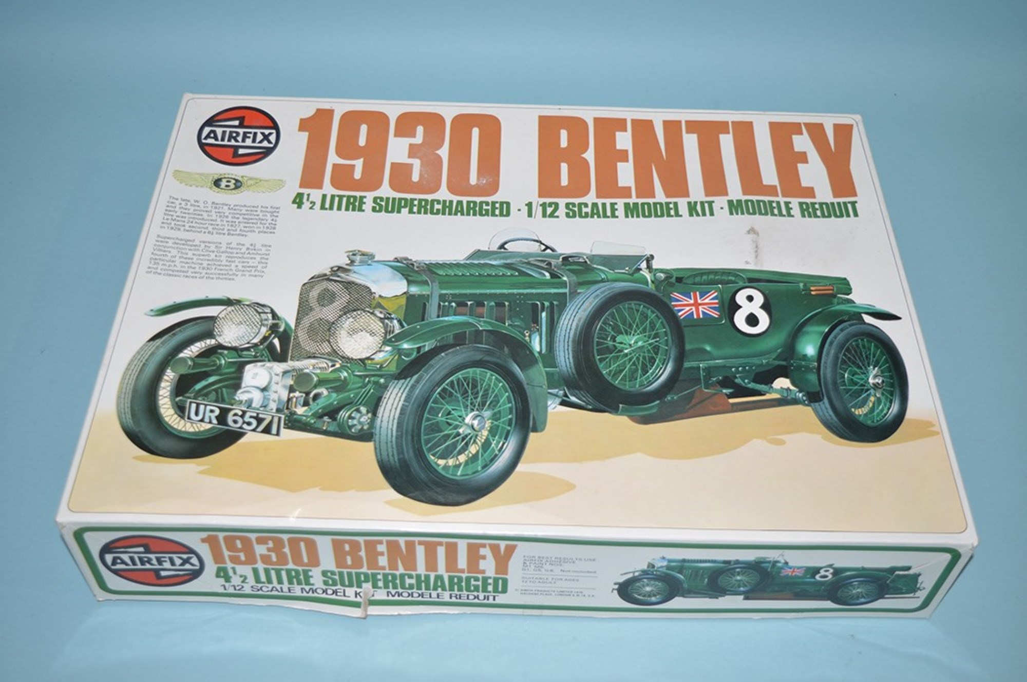 Airfix model constructor kit, series 20, 1:12 scale: 1930 Bentley 4 1/2 litre Supercharged, 20440.