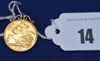 Lot 14 - An Edward VII gold half sovereign (date...