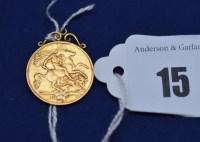 Lot 15 - An Edward VII gold half sovereign (date...