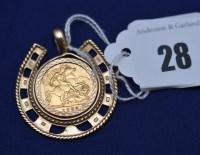 Lot 28 - An Elizabeth II gold half sovereign, 1982, in...