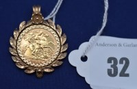 Lot 32 - An Elizabeth II gold half sovereign, 1982, in...