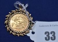 Lot 33 - An Elizabeth II gold half sovereign, 1982, in...