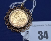 Lot 34 - An Elizabeth II gold half sovereign, 1982, in...