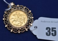 Lot 35 - An Elizabeth II gold half sovereign, 1973, in...