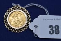Lot 38 - An Elizabeth II gold half sovereign, 1982, in...