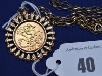 Lot 40 - An Elizabeth II gold half sovereign, 1982, in...