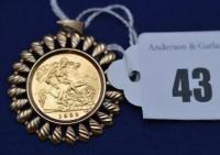Lot 43 - An Elizabeth II gold half sovereign, 1982, in...