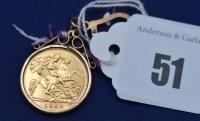 Lot 51 - An Elizabeth II gold half sovereign, 1982, in...
