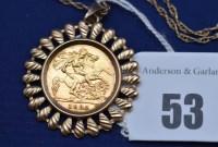 Lot 53 - An Elizabeth II gold half sovereign, 1982, in...