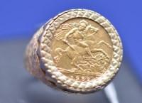 Lot 74 - An Elizabeth II gold half sovereign, 1982, in...