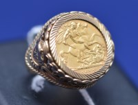 Lot 95 - A George V gold half sovereign, 1913, in 9ct....