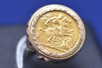 Lot 99 - A George V gold half sovereign, 1913, in 9ct....
