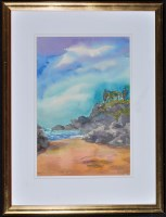 Lot 122-Kim Redpath - ''Beach and Rocks, Nerja'',...