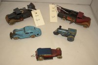 Lot 86A-Two pre-war Minic tinplate model lorries, to...