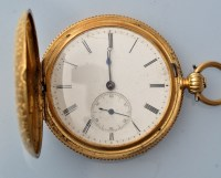 Lot 799-Breitling Laederich: an 18ct. gold key wind...
