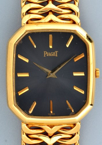 Lot 834-Piaget: an 18ct. yellow gold cased wristwatch,...