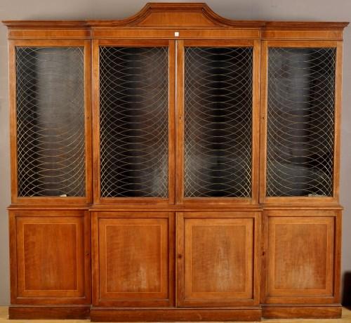 Lot 1121 - An Edwardian style mahogany breakfront...