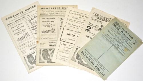 Lot 2-Newcastle United v Barnsley, January 5th 1946,...