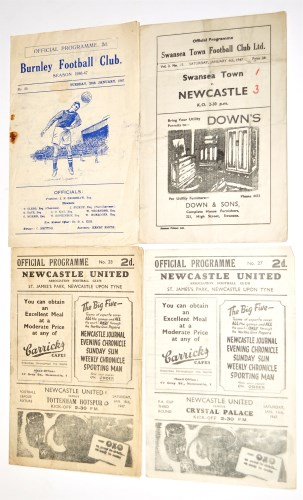 Lot 7-Swansea Town v Newcastle United, January 4th 1947,...