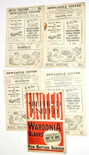 Lot 8-Newcastle United v Barnsley, February 1st 1947,...