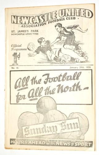 Lot 10-A pre war football programme, Newcastle United v...