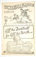 Lot 10-A pre war football programme, Newcastle United v...