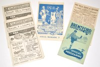 Lot 17-Brentford v Newcastle United, January 17th 1948,...