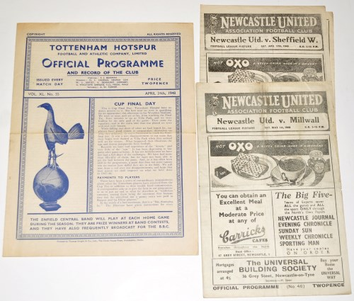 Lot 20-Newcastle United v Sheffield Wednesday, April...