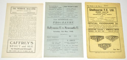 Lot 21-Linfield v Newcastle United (Friendly), May 5th...