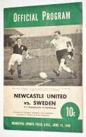 Lot 29-Newcastle United v Sweden (I.F. Kamraterna of...