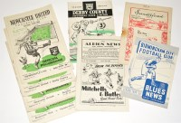 Lot 34 - Newcastle United v Burnley, February 25th 1950,...