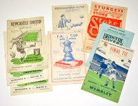Lot 42 - 1950-1951 FA Cup Fixture Programmes: Newcastle...
