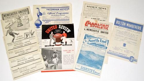 Lot 44-Newcastle United v Stoke City, August 18th 1951,...