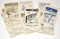Lot 45 - Newcastle United v Fulham, September 29th 1951,...