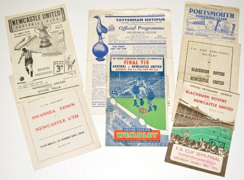 Lot 49-1951-1952 FA Cup Fixture Programmes: Newcastle...