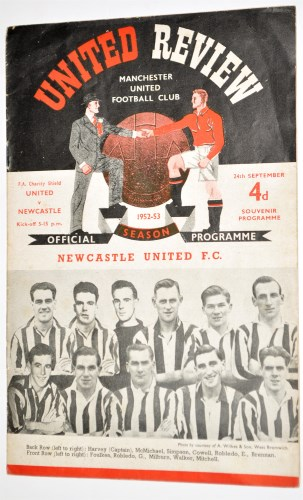Lot 51-Manchester United v Newcastle United FA Charity...
